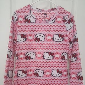 Hello Kitty Fleece Adult Small (4/6) Night Shirt